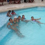 HANGING OUT AT THE POOL IN BARRANQUILLA PLAZA
