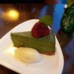 delicious green tea cheese cake