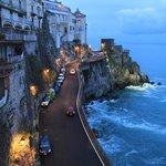 looking back up the amalfi coast highway