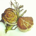 Pan seared sea scallops & endives