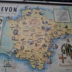 Devon map from nearby SVR Highley station waiting room