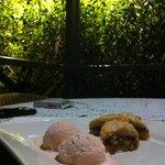 Desert home made roswater icecream WOW