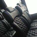 Inside of shuttle bus