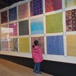 様々な絹織物の展示