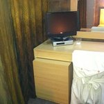 desk with tv
