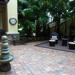 Courtyard off Gym/Spa