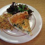 Quiche with veggie cake & petite salad