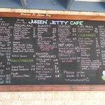 The menu - good luck making a quick choice!