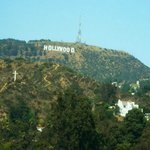 View of the Hollywood sign from the hotel