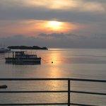 Sunrise, looking towards Tingo Point
