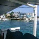 Resort from dive boat (banka)