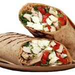 grilled chicken mozzarella and roasted red pepper wrap