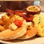 Hearty breakfast buffet