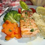 The grilled Salmon is wonderful.