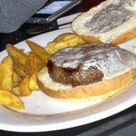 Hamburguesa de kobe con queso trufado