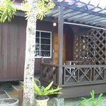Outside of sea view bungalow