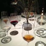 empty glasses after wine/juice menu