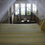 The master bedroom in the main villa