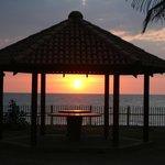 Sunset through the pavilion