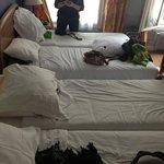 Four comfy beds