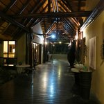 Corridor through the main lodge