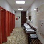 Ladies toilet/wash area