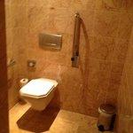 Toilet area in huge bathroom