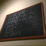 Albert Einstein Black Board
