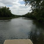 The Colorado River runs right through the Lost Pines Resort