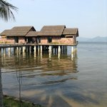 Overwater family villa with plunge pool