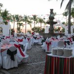 Mexican fiesta in courtyard