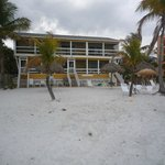 View from the beach - ours was 1st floor, middle room (#2)