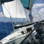 Sailing towards Jost Van Dyke