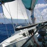 Sailing towards Jost Van Dyke