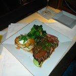 The Capt enjoyed his Lemongrass Crusted Flank Steak with Sour Cream Au Gratin Potatoes..