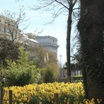Paris in the spring :-) The park 1 min away from the hotel