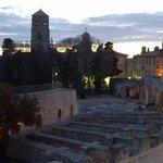 Night falling on Arles from room #5 Hotel Calendal.