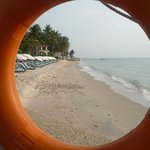 Beach Area in front of Resort taken through a lifebuoy