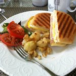 Ham & Egg Panini w/potatoes