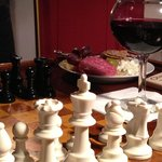 Wine and cheese and chess - works for me!
