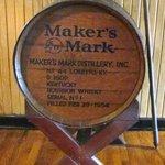 The classic Maker's Mark barrel logo