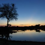 Sunset at the water hole