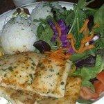 mahi mahi fish plate  the salad was so fresh and so was fish!