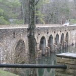 Bridge made out of Crab Orchard Stone