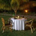 Telunas Beach Resort: Candelight Dinner on the lawn