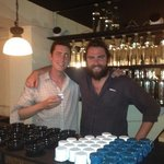 Opening of the mezcalería with one of our guests.