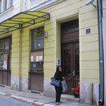 Travellers home, entrance door