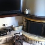 Fireplace, TV and playstation