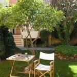 Gartenanlage direkt an Terrasse