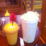 smoothie and 2 pint milky bar milkshake